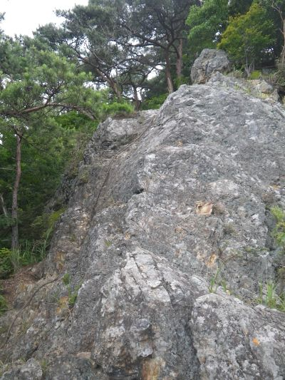古賀志山 岩稜