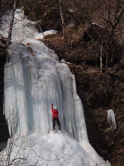 加仁湯の氷、中央