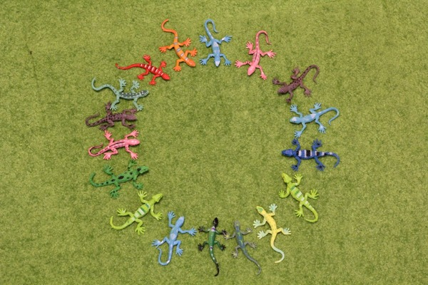 トカゲミニフィギュア12種