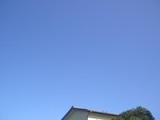 今日の快晴の空