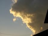 夕日を受けた雲