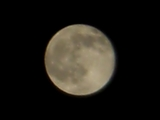 澄み切った空に満月1