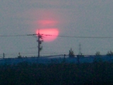 夕陽赤く1