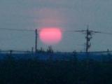 夕陽赤く2