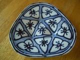 藍色花紋皿