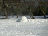 昨日の力作雪像