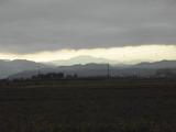夜明け前の白山山並み