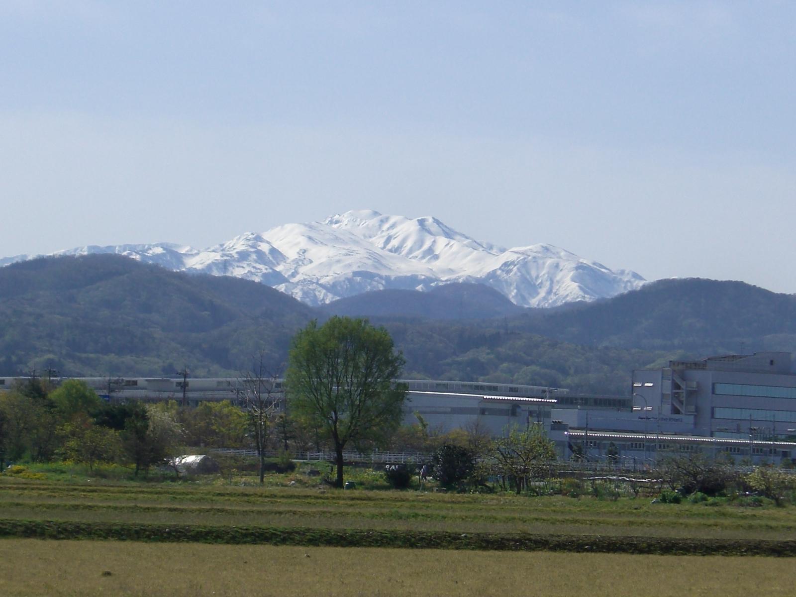 快晴晴天の白山