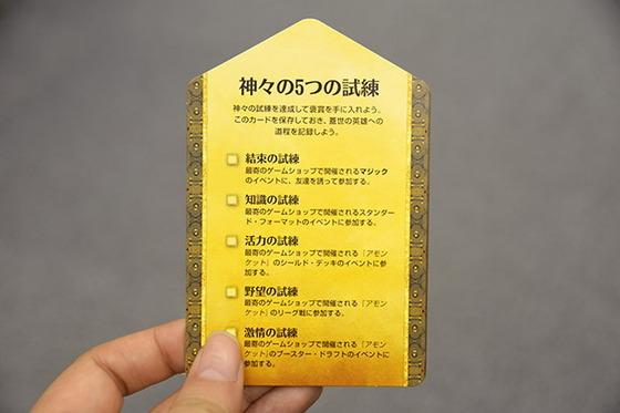 試練実績カード