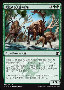 突進する大鹿の群れ