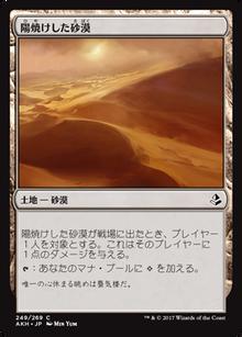 陽焼けした砂漠
