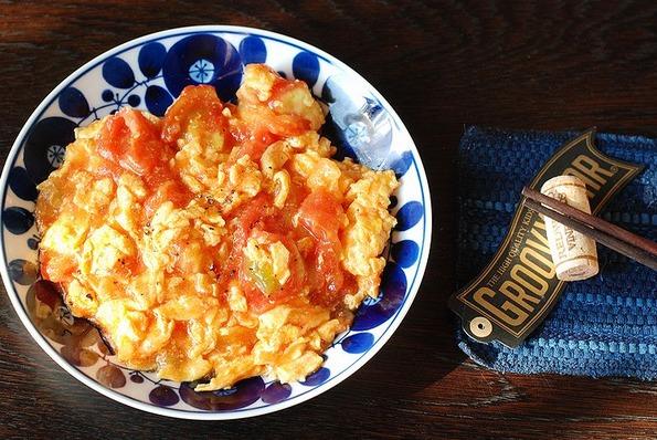 卵とトマトの中華風炒め
