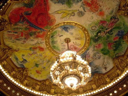 シャガールが1964年に書いた天井画