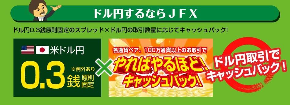 ドル円キャッシュバック