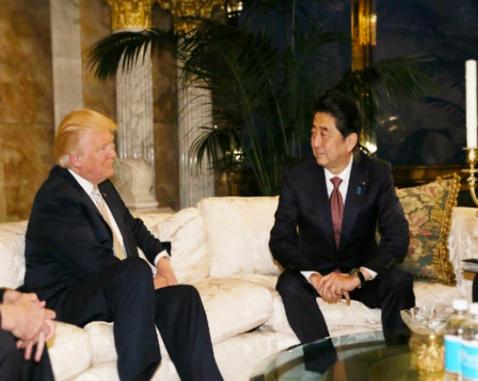 安倍首相・トランプ大統領1
