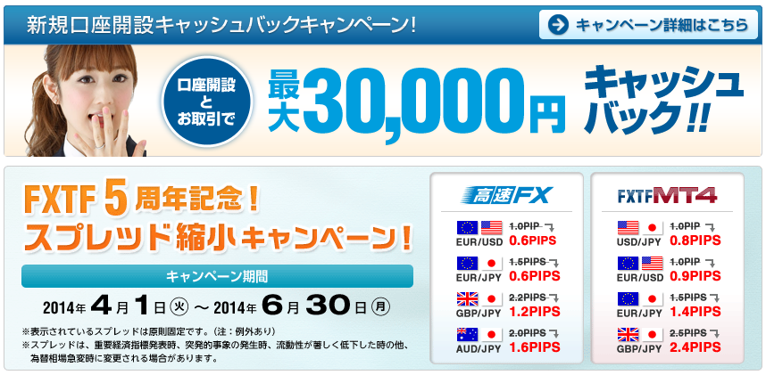 FXTF3万円キャッシュバック1