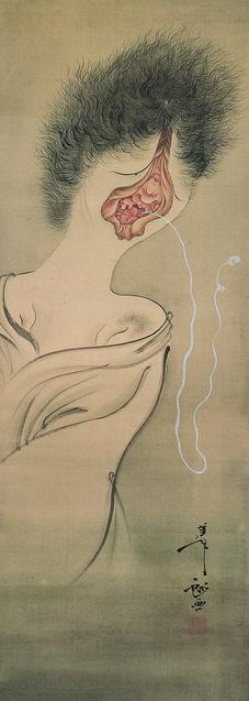 月岡芳年「幽霊図」