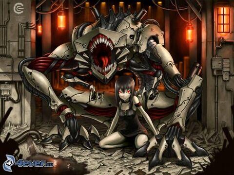 anime-girl,-monster-155086