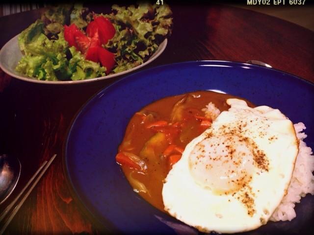 久々料理:茄子とトマトの夏カレー