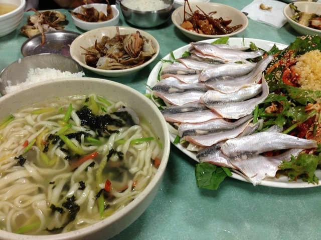 江華島で旬のママカリを食す