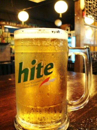 韓国生ビールで乾杯!!