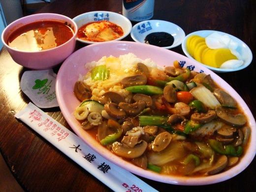 韓国のポソッドッパプ(きのこ丼)