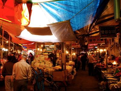 活きた市場・京東市場とコリコムタン