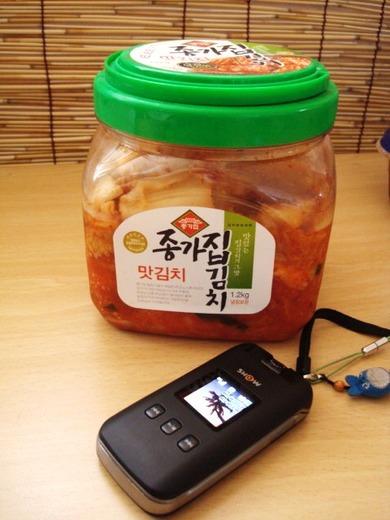 韓国で食べていたキムチ