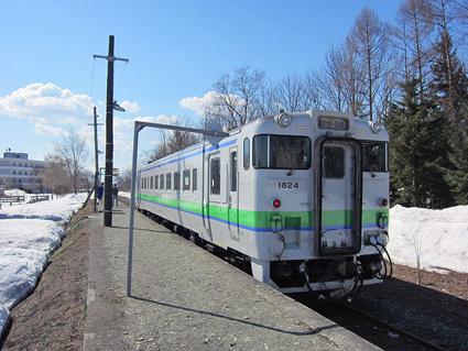 新十津川駅に停車中のキハ40形
