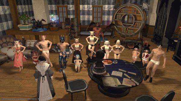 まさかのドレスコードが裸な部屋。