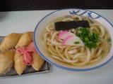 桑島製麺所1003かけうどん+きつね寿司