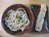 せい麺や1201かけ小(そのまま)+ちくわ天