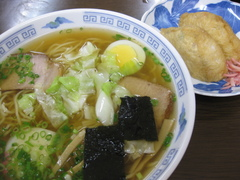 倉本屋1020中華そば+きつね寿司