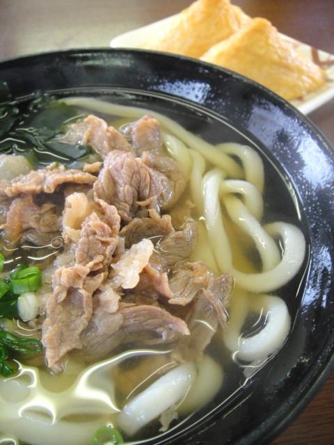 清水0128肉うどん&いなり