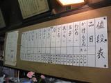 田井食堂0403お品書き