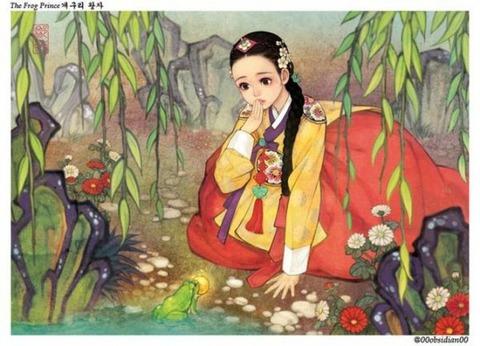 チマチョゴリ版の『アナと雪の女王』2