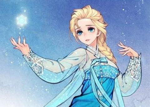 チマチョゴリ版の『アナと雪の女王』1