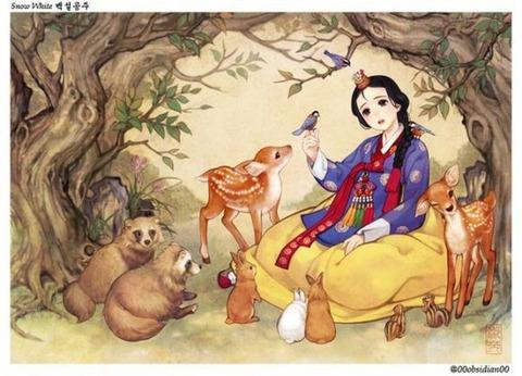 チマチョゴリ版の『アナと雪の女王』7