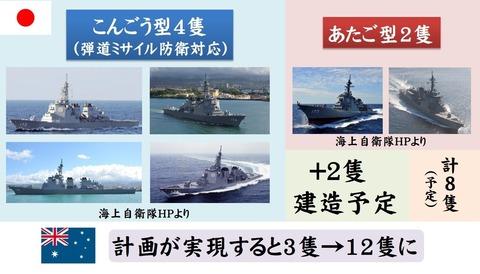 オーストラリア海軍が今後10年でイージス艦12隻を配備2