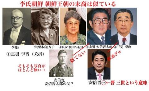 大韓帝国末裔の李玖と安倍も似ている