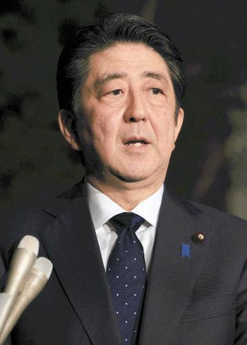 日韓合意について話す安倍首相