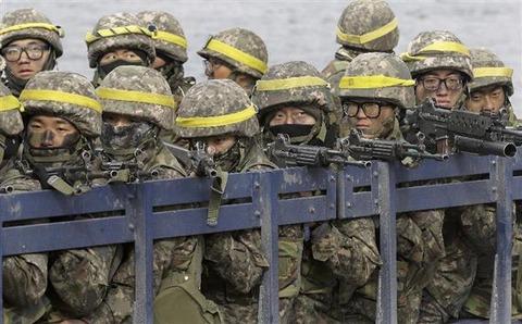 韓国陸軍の兵士