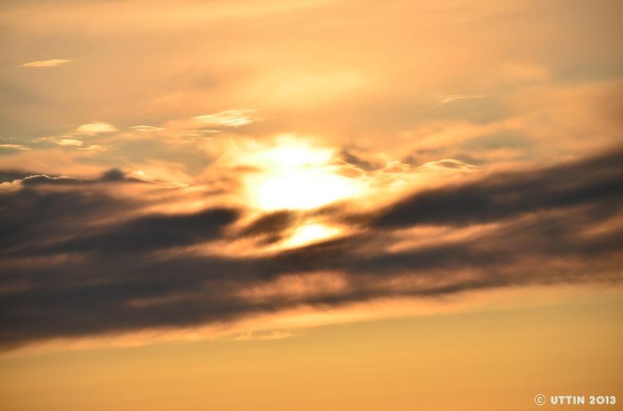 雲の風景 ・・・雲の帯に包まれて・・・