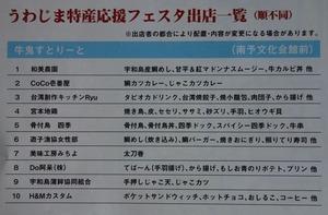 うわじま特産応援フェスタ出店一覧1