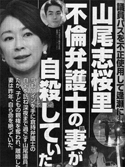 山尾志桜里  不倫弁護士の妻