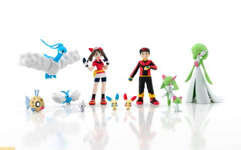 『ポケモン』ホウエン地方の1/20スケールフィギュア第2弾が8月に発売。プラスル、マイナンなどポケモン9種とトレーナーが登場