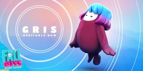 『Fall Guys』にて『GRIS』のコラボスキンが登場!