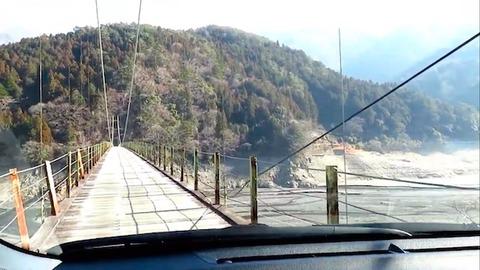 クルマで渡れる吊橋、ランクルでオフロード YouTube新着ピックアップ「きょうの車載動画」