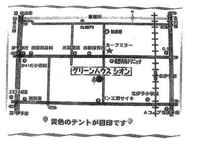 田んぼマーケット地図
