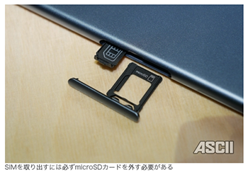 SIMトレイ microSDトレイ